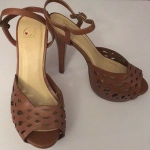 Brown Bianca Heels